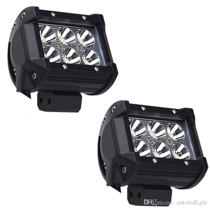 """Lighting led work light bar 4"""" inch 18W For Jeep Offroad Car With Wiring Harness Kit"""
