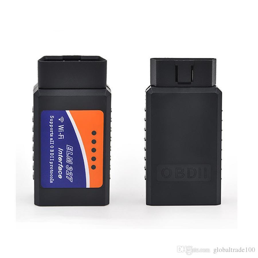ELM327 WIFI / Bluetooth V1.5 OBD II Wi-Fi ELM 327 Auto-Diagnosewerkzeug OBD Scanner-Schnittstellen-Scanner obd2 Großverkauf / geben DHL frei