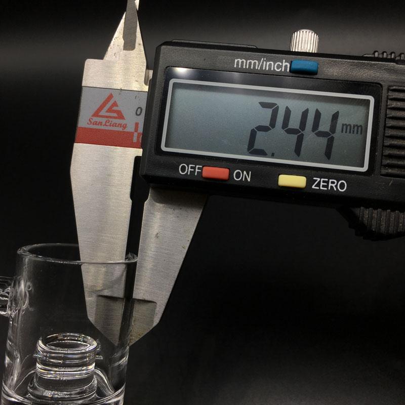 5mm Bottom Flat Top Quartz Core Reactor Banger 10mm 14mm 18mm Quartz Thermal Banger Nails For Glass Bongs Glass Water Pipes