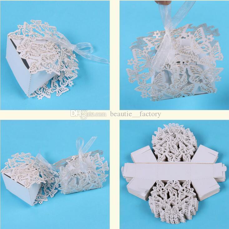 creux Boolfly Candy Box Fête De Mariage Favoris Cadeau Chocolate Cadeau Blanc Boîtes Cadeaux Uniques et beaux Design Nouveau