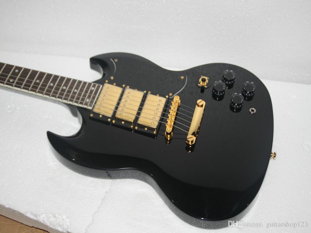 Yeni Varış Siyah Elektro Gitar 3 Transfer Yüksek Kalite Toptan Gitar