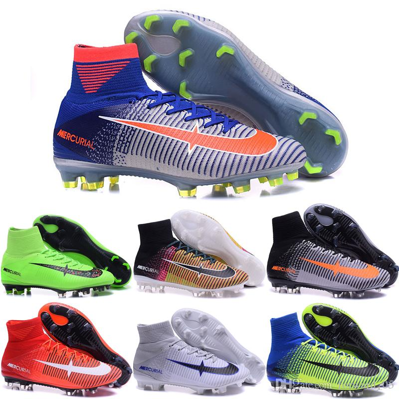 Best Wholesale 2016 Cheap Football Shoes Men Mercurial Superfly V Fg Soccer  Boots 100% Original Sneakers For Sale Sports Shoes Size 6.5 11 Under $90.46  ...