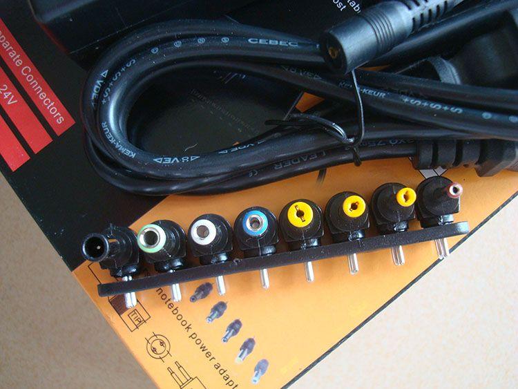 96 W Universal Laptop Fonte de Alimentação 110-220 v AC DC 12 V / 16 V / 20 V / 24 V Adaptador Para Laptop / Notebook Frete Grátis 50 pçs / lote