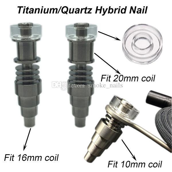 Haute qualité Classique Fit 16mm20mm bobine Titanium / Quartz hybride E Digital Nail Kit Numérique Huile Essentielle Vaporisateur kit en stock DHL gratuit