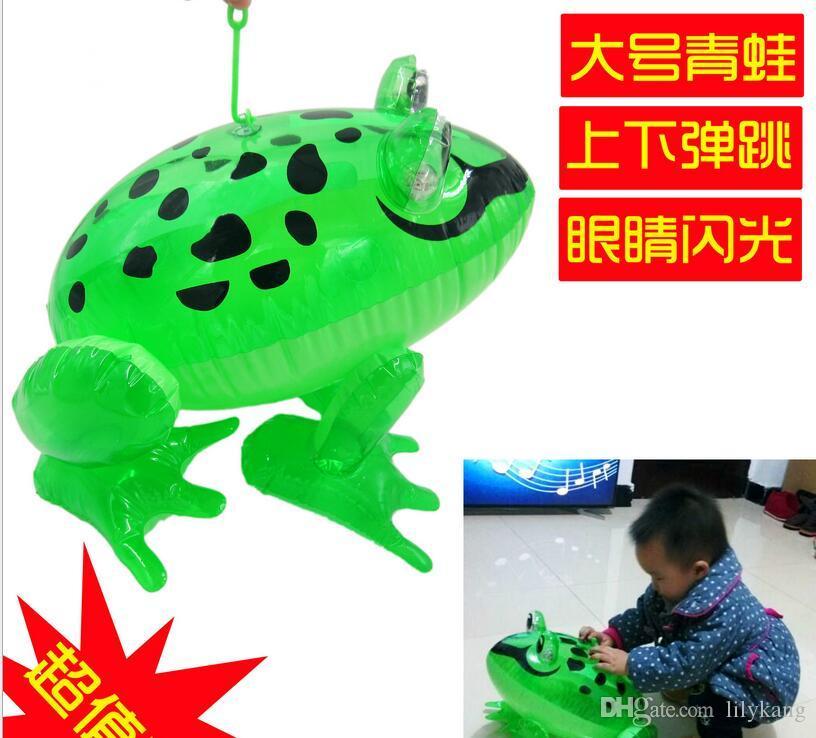 bambini principale gonfiabile giocattolo gonfiabile animale rana giocattolo all'aperto nuotata del bambino 28x29x36cm dimensioni grandi in materiale PVC giocattoli bambini il trasporto libero