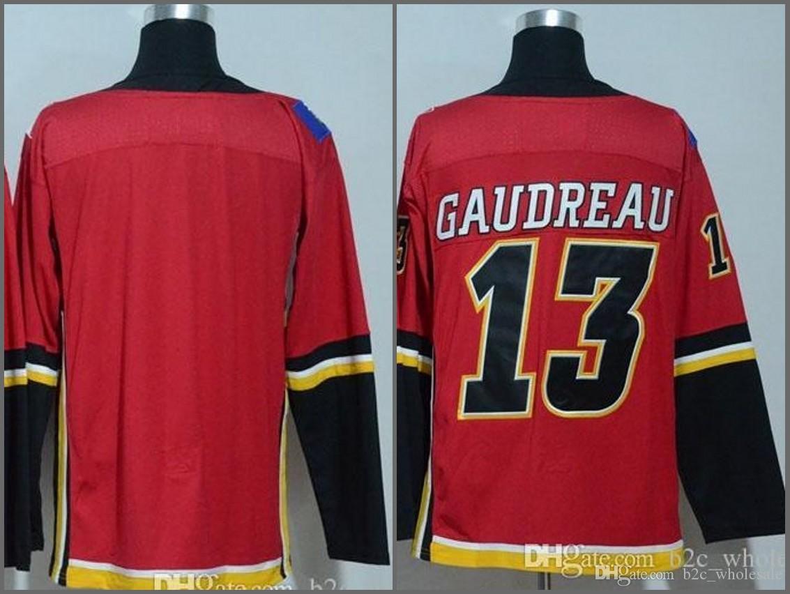 e8e49b78d ... Mens 13 Johnny Gaudreau Jersey Blank 2017-2018 New Season Calgary Flames  100% Stitched ...
