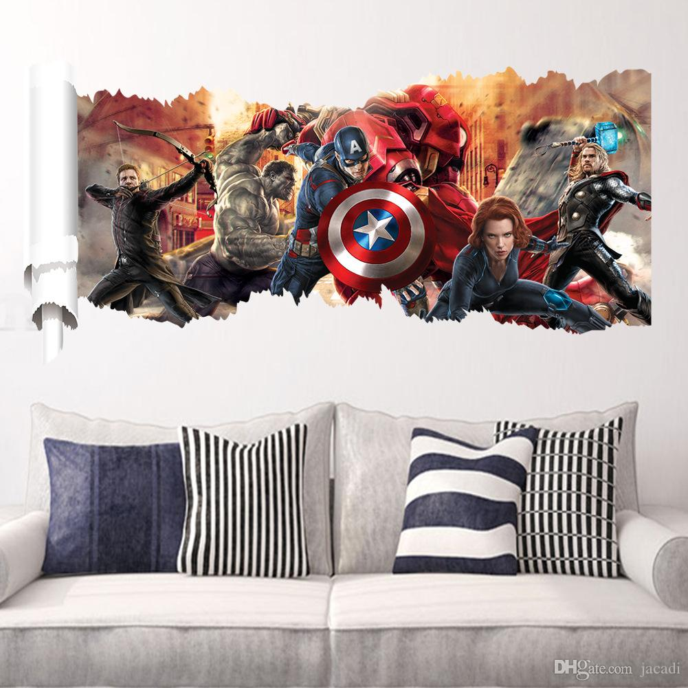 Dhl ~ Avengers Wall Stickers Kid Room Home Decoration Living Room ...