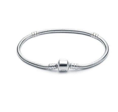 Großhandels16-21cm 925 versilbern Armband 3mm Schlange-Ketten-Haken-passende europäische Korne für Pandora-Armband-Charme bördelt Armband-Schmucksachen DIY