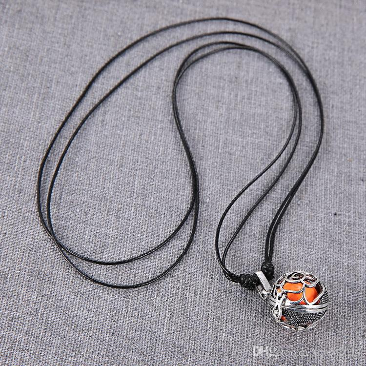 Fashion Mexican bola Pendant Cage Harmony ball ringing chime Pendant for Pregnant women Pendant rose shape necklaces