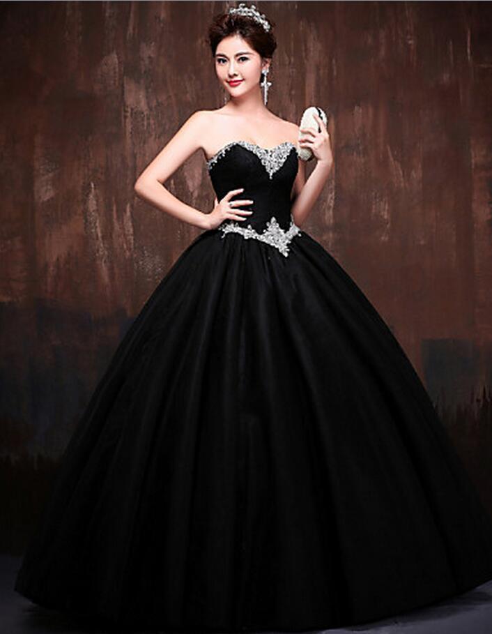 Vestidos para quinceaneras color negro