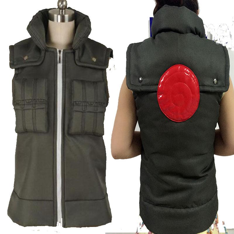 HOT COS Anime Top Sale NARUTO Hatake Kakashi Cosplay Costume Cos Halloween Chrismas Vest Waistcoat Customized High Quality