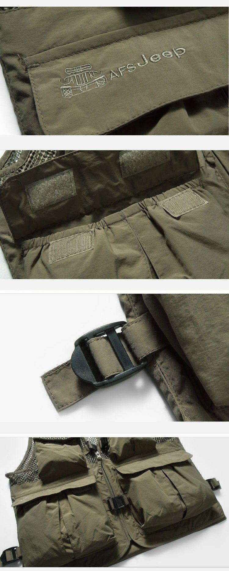 50% OFF High Quality Summer men's Vest Brand Multifunctional Quick Dry Mesh Vest Outdoor Casual Vest For Men 55hfx 188