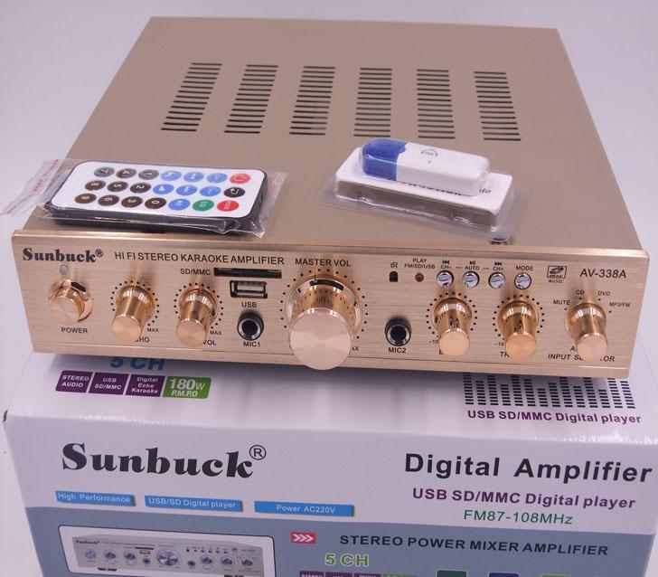 خاص بالجملة 5.1 قناة مضخم الطاقة الرقمي مع بطاقة كارا موافق المنزلية USB وحدة بلوتوث راديو FM