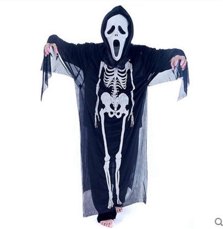 theme costume skeleton ghost costume party costumes halloween kids adult performance set creative cosplay dress costumes halloween costumes group halloween - Skeleton Halloween Costume For Kids