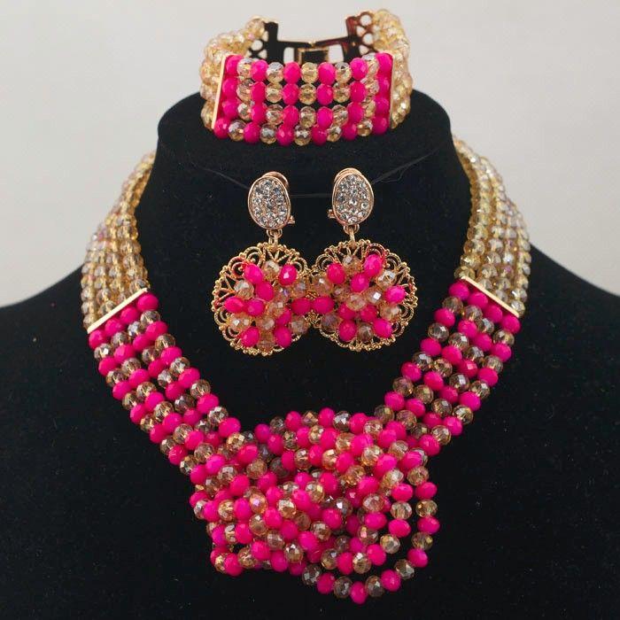 himmel royal blue anhänger brautschmuck set indischen kristall halsketten schmuck set afrikanischen modeschmuck großhandelspreis für hochzeitsgeschenk