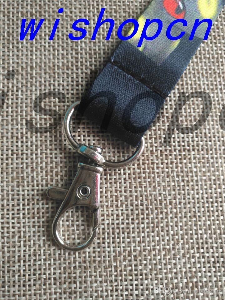 Wholesale Popular Cartoon Leopard Love pattern Neck Lanyards Keychain ID Badge Holder g-4
