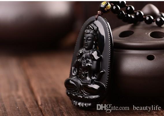 بوذا قلادة سبج الطبيعية خمر قلادة الأسود بوذا رئيس قلادة للنساء menmen المجوهرات اليشم