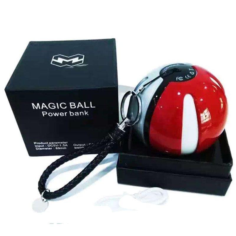 2016 Poke power bank 10000 mAh for Poke AR game powerbank with Poke ball LED light portable charge figure toys OTH278