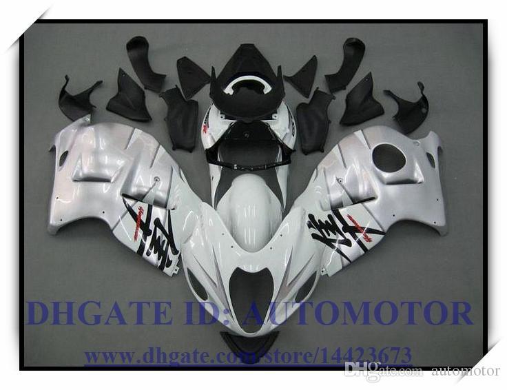 KIT CARENA INIEZIONE ABS 100% ADATTO SUZUKI GSX-R 1300 1998 1999 GSXR 1300 97-07 GSXR1300 1997-2007 BIANCO # TE634