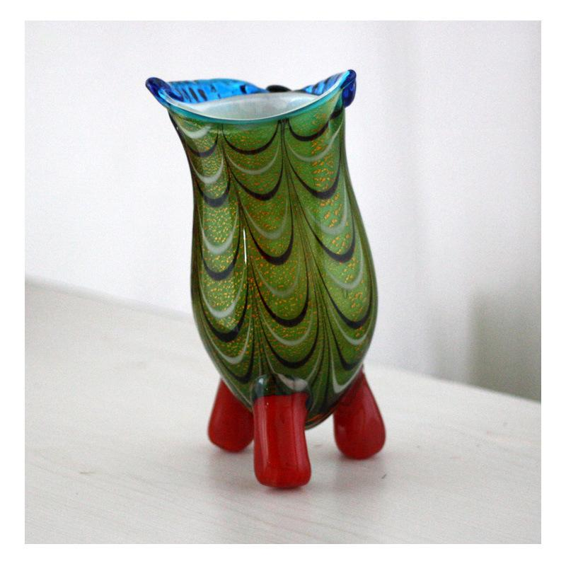 Owl Glass Vase High Quality Murano Glass Owl Abstract Arts Auspicious Creative Glass Vase Top Collectale gift