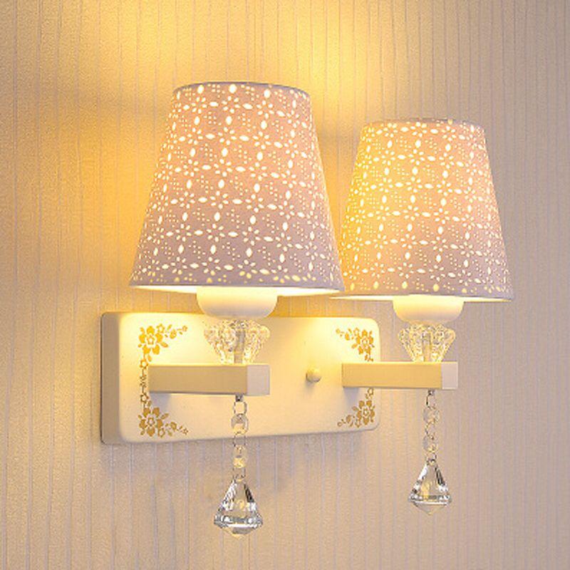 Best Bedside Crystal Wall Lamp Bedroom Living Room Modern Decorative ...