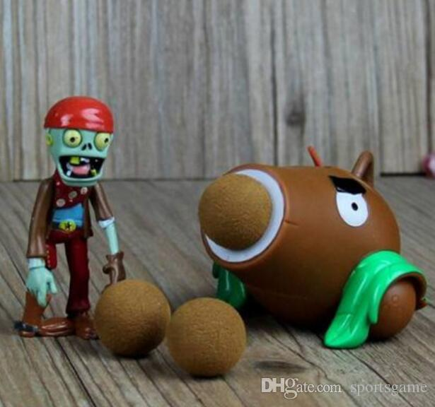 PVZ Plantes vs Zombies Peashooter PVC Action Figure Modèle Jouet Cadeaux Jouets Pour Enfants Haute Qualité Brinquedos, En OPP Sac