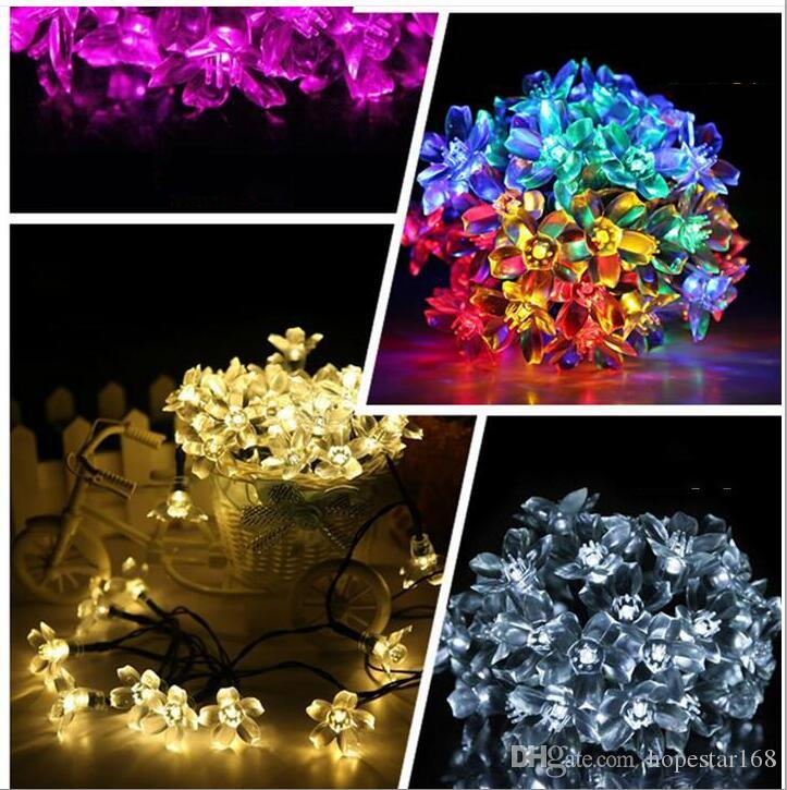 Eco Friendly Christmas Light 50 LED RGB Strings Solar-LED-Ketten Blase Regen-Kugel-Lampe Schlauch-Licht-Weihnachtshochzeitsfest-Lampen Solar Light
