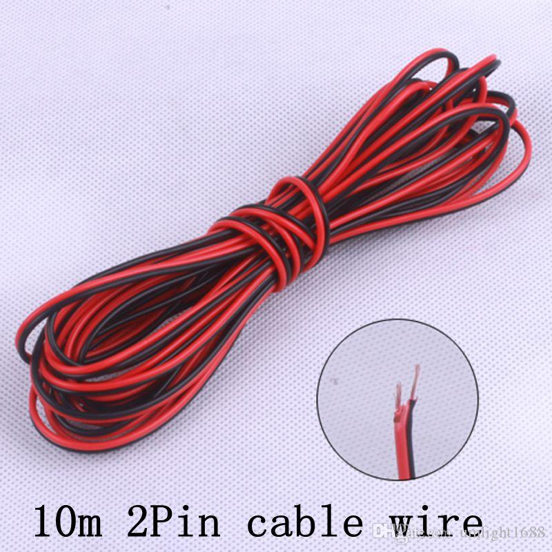 2018 10meters22awg Pvc Insulated Wire, 2pin Tinned Copper Cable ...