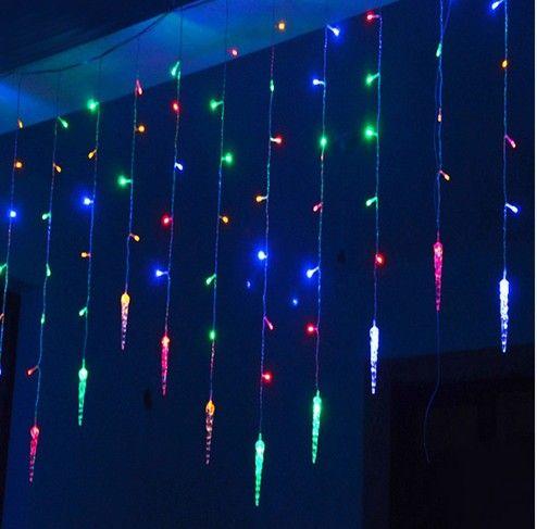 4m * 0.7m 100 LED 고 드 름 커튼 조명 크리스마스 리드 icicle 문자열 요정 조명 홈 파티 웨딩 장식