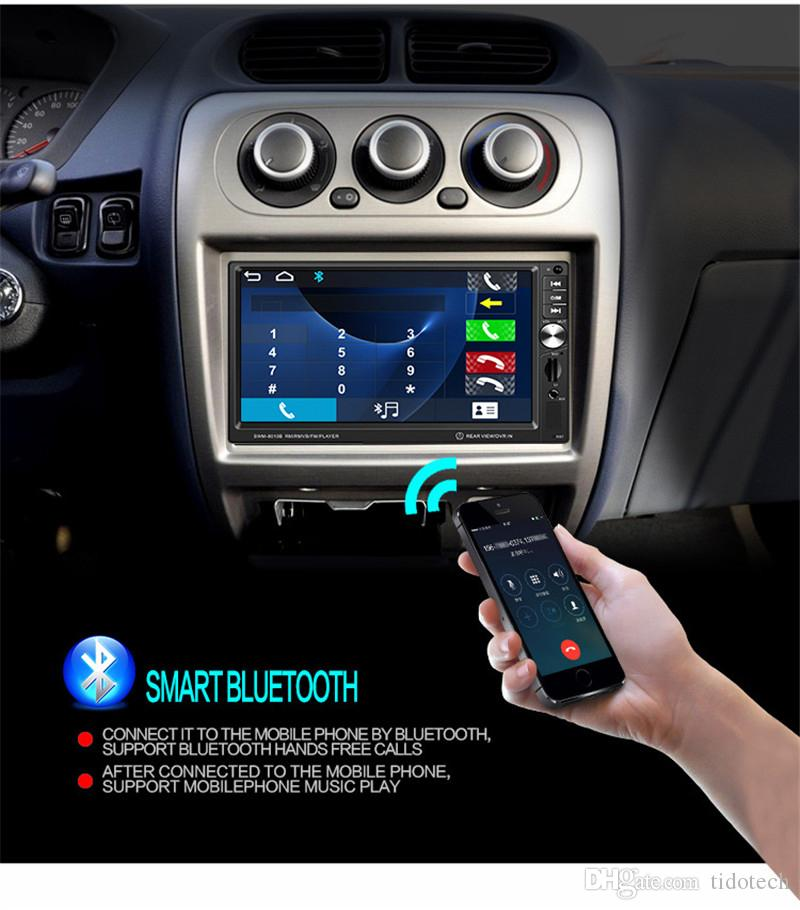 Multi function 7 Inch HD Touch Screen Bluetooth-Enabled Hand Free Car MP5 Player FM Radio Double Din DVD Audio & Video