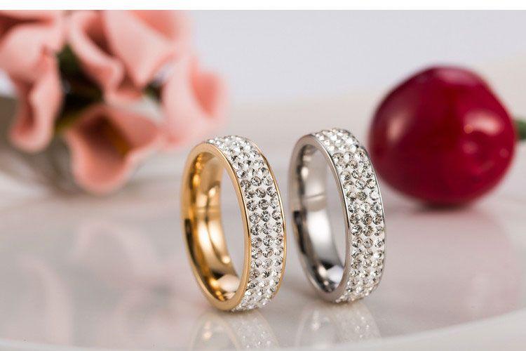 Nova marca de Aço Inoxidável 316L Anéis Casal Para As Mulheres Homens CZ Zirconia Anéis New Women Charm Jóias