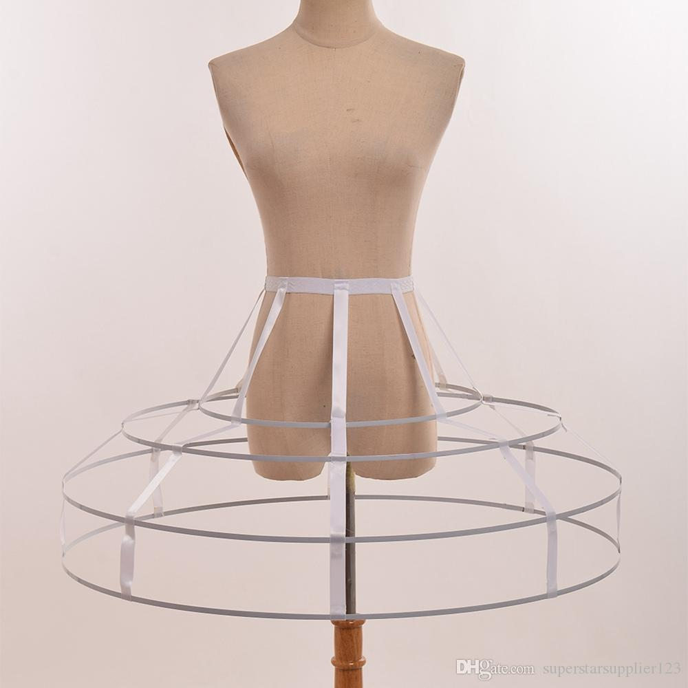 White/Black Women Victorian Cosplay Triangular Crinoline Hoop Cage Skirt Pannier Bustle Petticoat Underskirt Costume