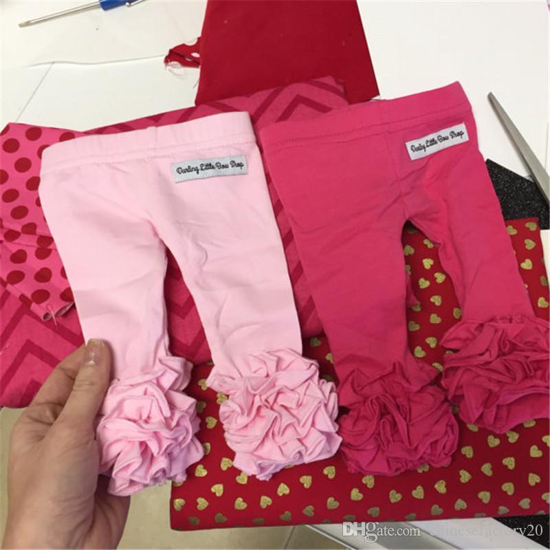 31 Renkler Şükran Cadılar Bayramı Noel Katı Baskılı Fırfır Pantolon Şerit Tayt Bebek Hirls Uzun Pantolon Sıcak Pantolon
