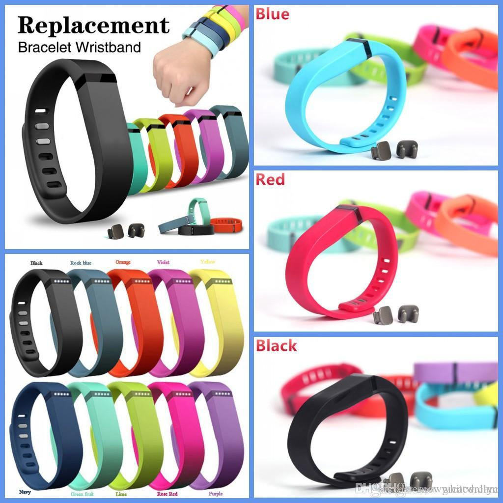 Hot Sale Good Smart Bracelet Replacement Rubber Band Fitbit Flex Wireless Activity Bracelet Wristband with Metal Clasp VS DZO9 U8