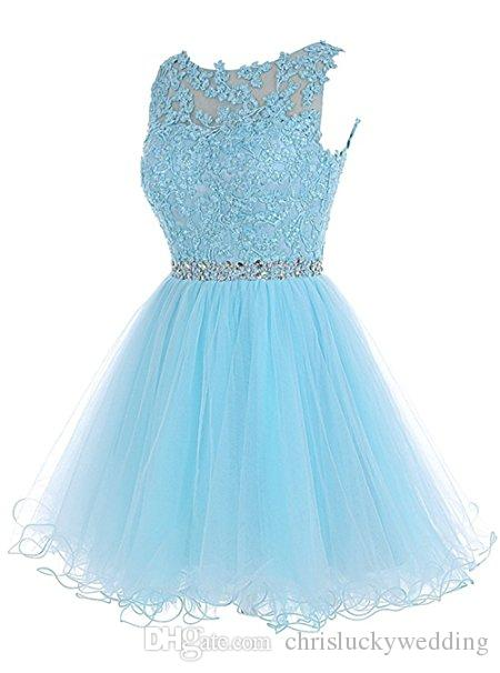 Short Homecoming Dresses Tulle Backless Appliques Beads Prom Party Gown A Line Mini Party Short Cocktail Plus Size Prom Dresses