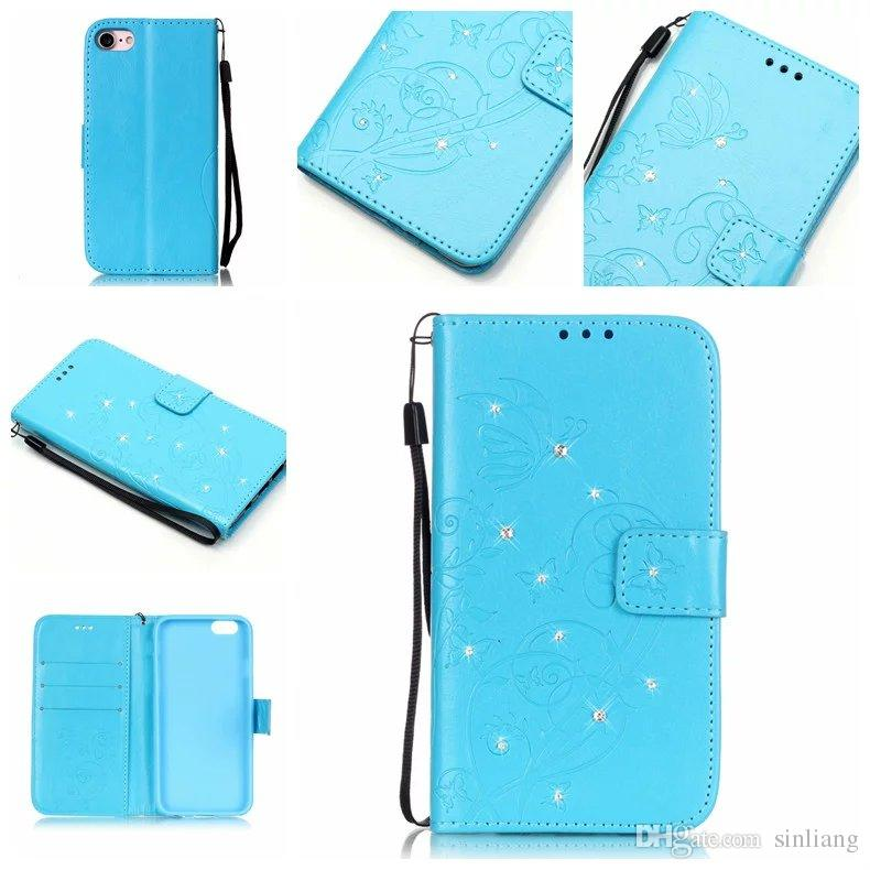 Stick Flower Wallet Pu Leather Case For iPhone 5,6,7,7 Plus Case Credit Card with Stand Pouch For iPhone 7