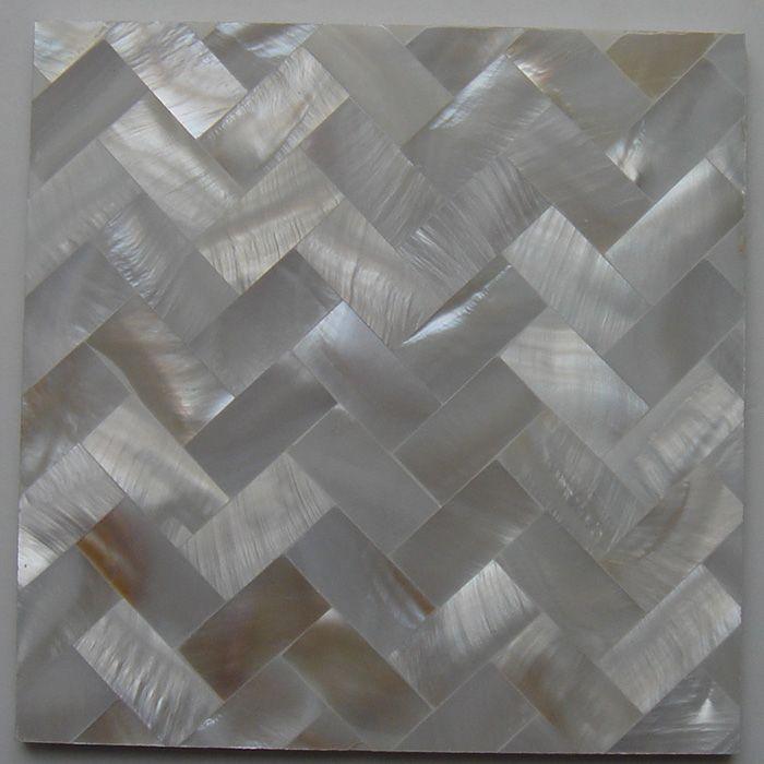 Grosshandel 10x20mm Naturliche Farbe Perlmutt Shell Fliesen Shell