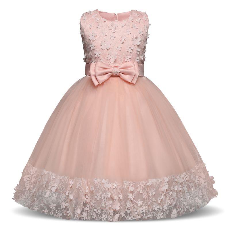Kinder Mädchen Sommer Blume Prinzessin Kleid Tüll Ärmellos Spitze Geburtstag