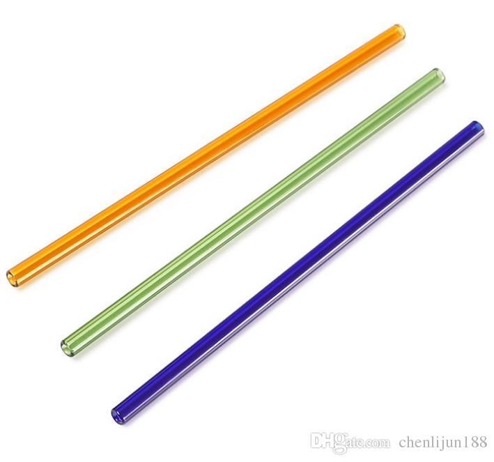 Couleur 6 * 8 épaisseur de tube de verre longueur de 20 cm, couleur, style, livraison aléatoire, conduites d'eau, bongs en verre, verre narguilés, pipe à fumer