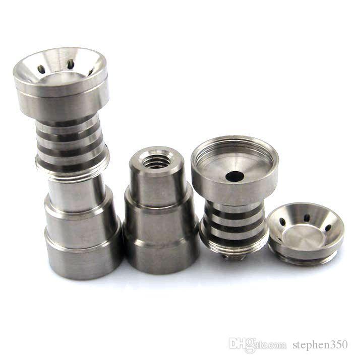 4 in 1 Domeless Titanium Nagel Titan GR2 Nails Joint 14mm und 18mm Glasbong Wasserrohr Glasrohre Universal und bequem