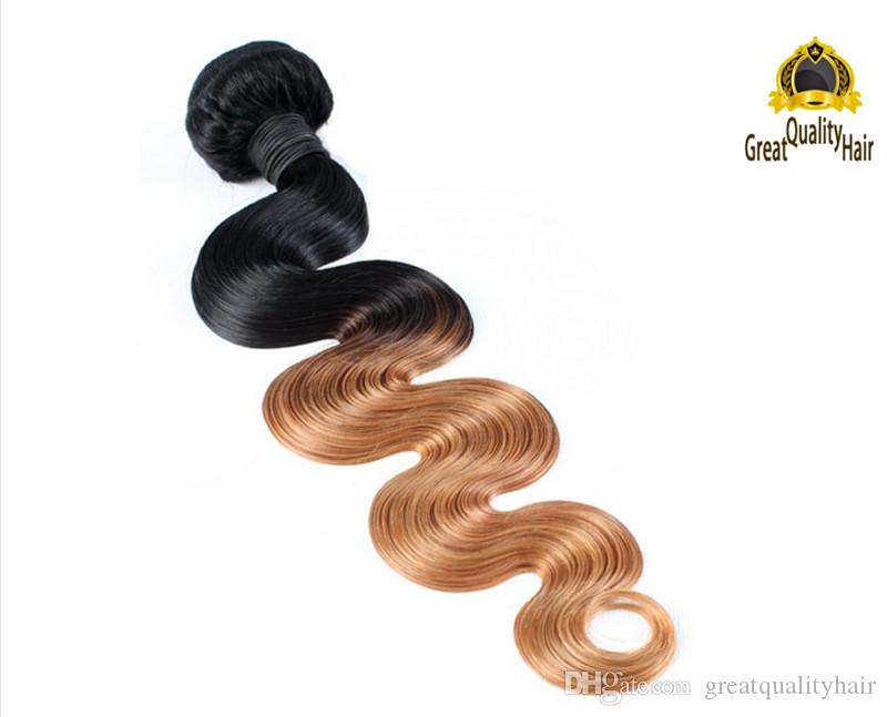 2016 التخليص بيع 3 قطع أومبير الشعر غير المجهزة البرازيلي الجسم موجة بيرو الهندي الماليزي الإنسان الشعر