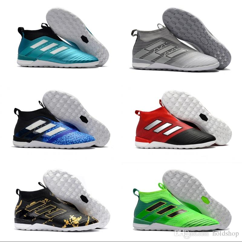 2018 Adidas New ACE Tango 17+ Purecontrol TF Soccer Cleats Boots Cleats  Champagne Camouflage Sky/Blue FG CG Men Football Soccer Shoes Football Shoes  Soccer ...