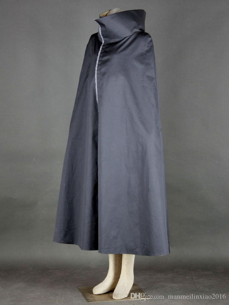 Athemis Naruto Uchiha Sasuke Cosplay Costume Noir Manteau Personnalisé Fait Unisexe Long Manteau Halloween Vêtements