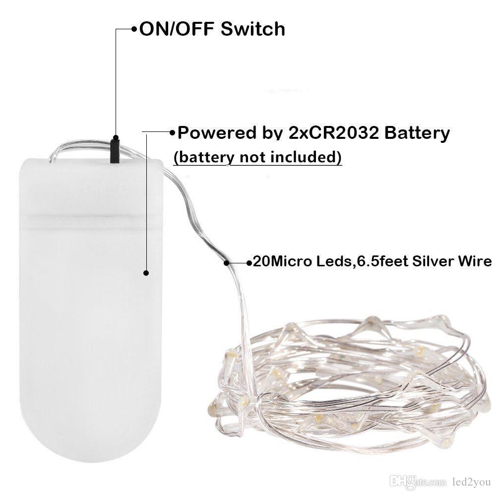 2 M 3 M 5 M LED Peri Dize Işıkları Pil Kumandalı Değiştirilebilir Firefly Mikro Dize Işık Bakır Tel Düğün Centerpiece için Şükran Günü
