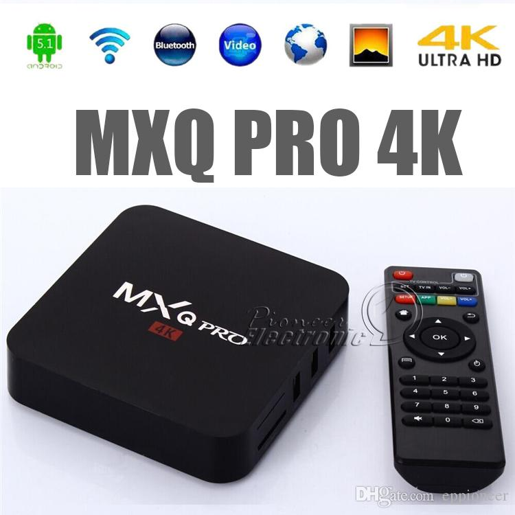 MXQ and MXQ Pro 4K Android TV BOX Amlogic S905 Streaming Media Player Quad Core ARM Cortex A53 CPU @2.0 GHz tv Box Full Loaded 1G 8G