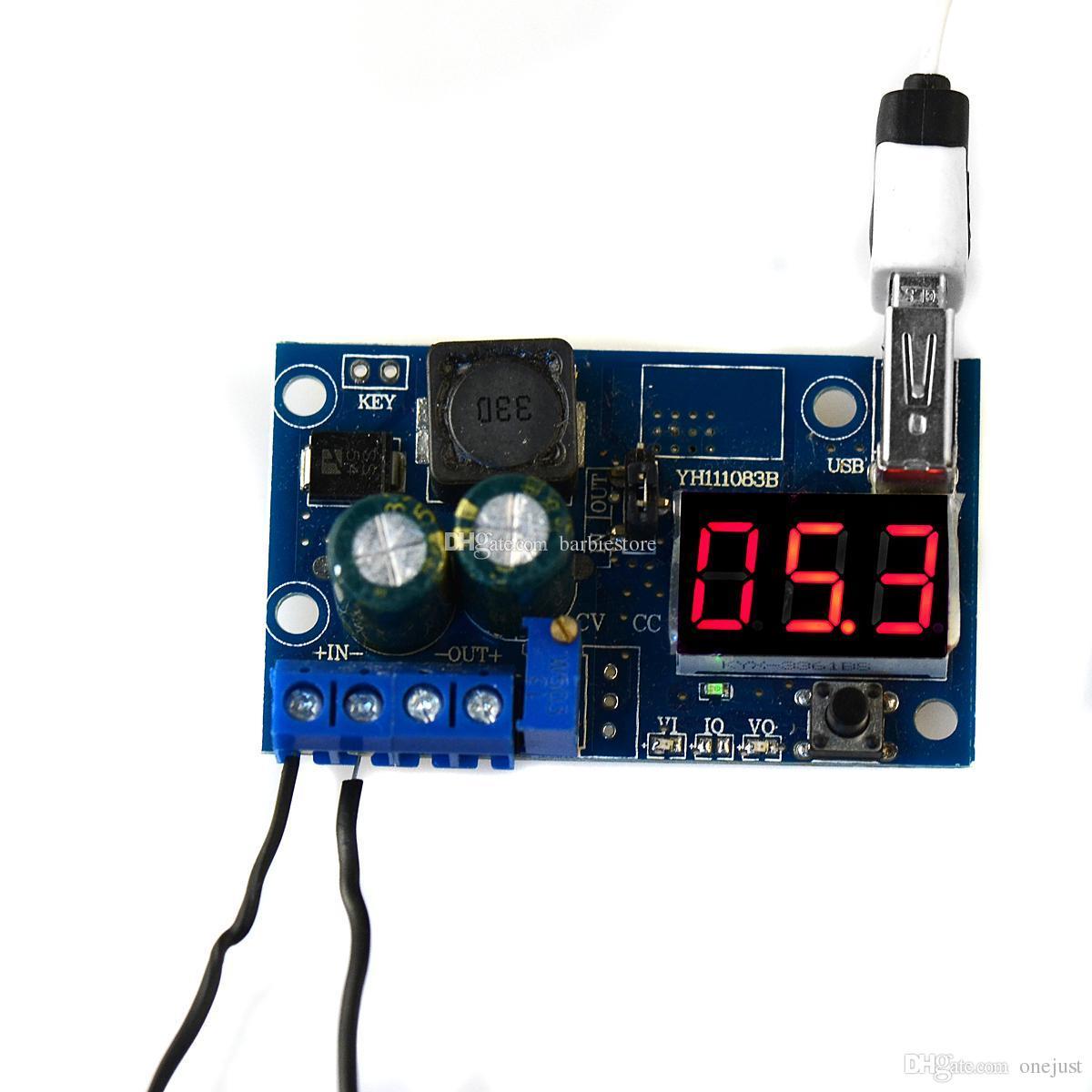 Led Voltmeter Lm2596 Dc Power Supply Adjust Converter Step Down Wiring Diagram Of Module Usb B00295 Osth Blue Leddigital Voltage Regulators Online