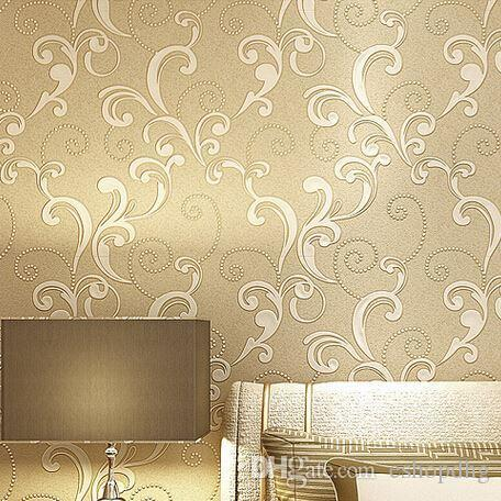 Modern Embossed 3d Wallpaper Textured Wall Paper Roll For Bedroom And Living Room Beautiful Wallpapers From Eshopdhg