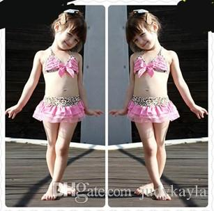 c205b5152f 2019 2018 Leopard Pink Kids Girls Swimwear Cute Toddler Swimsuits Baby  Swimsuits Bathing Suit Girl Three Pieces Bikini Swimming Suit From  Judykayla, ...