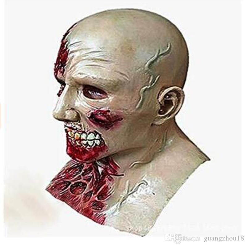 2017 New Horror Halloween Biochemical Crisis Cosplay Latex Costume Bloody Zombie Mask Melting Full Face Walking Dead Scary Party Masks