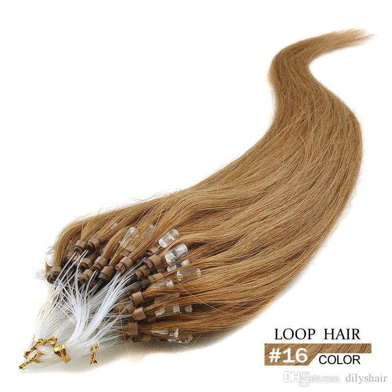Micro loop hair extension sale top fashion 16 16 24 braziln hair micro loop hair extension sale top fashion 16 16 24 braziln hair 05gstrand human straight loop hair micro link extensions micro link hair extensions from pmusecretfo Image collections
